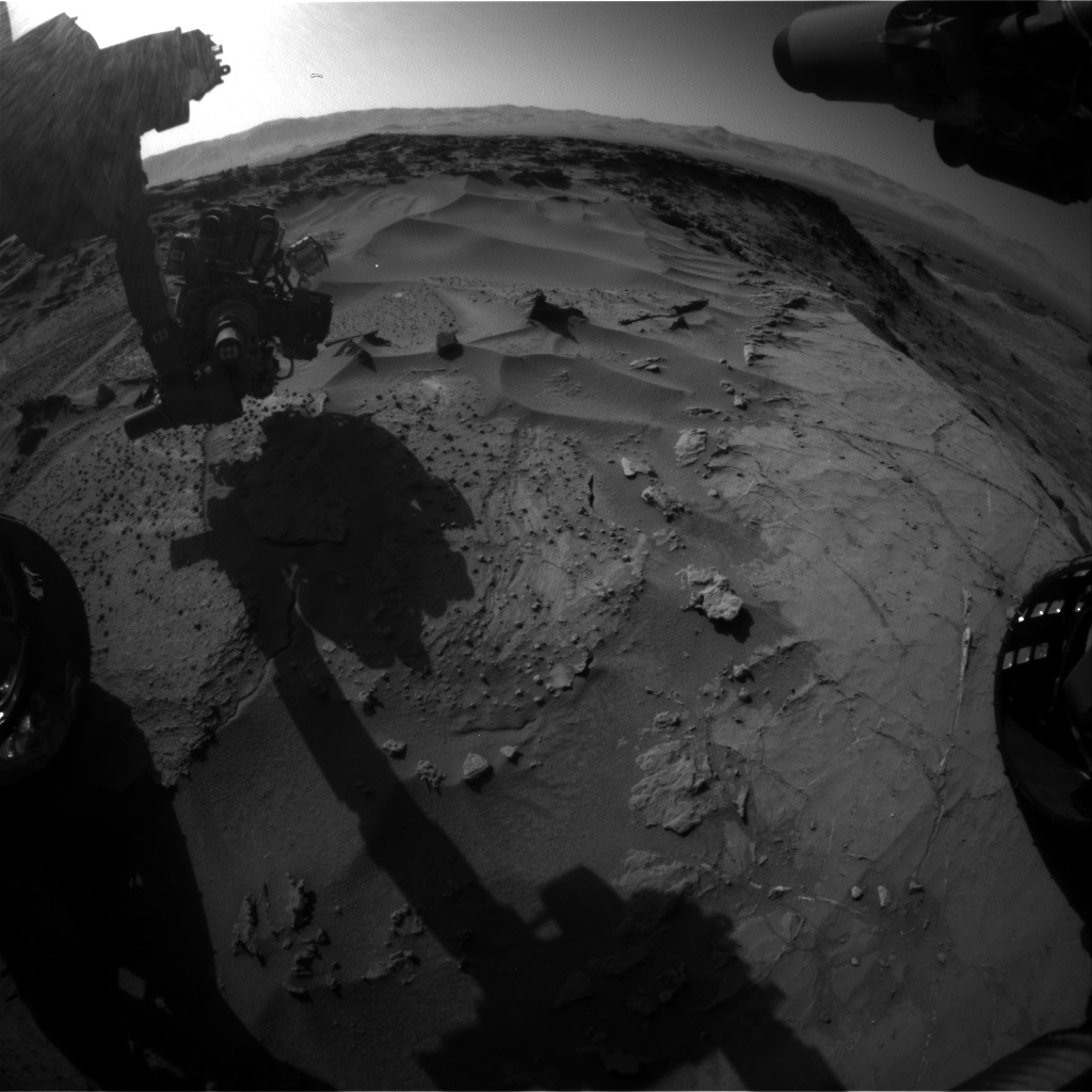 Nasa's Mars rover Curiosity acquired this image using its Front Hazard Avoidance Camera (Front Hazcam) on Sol 1277, at drive 1182, site number 53