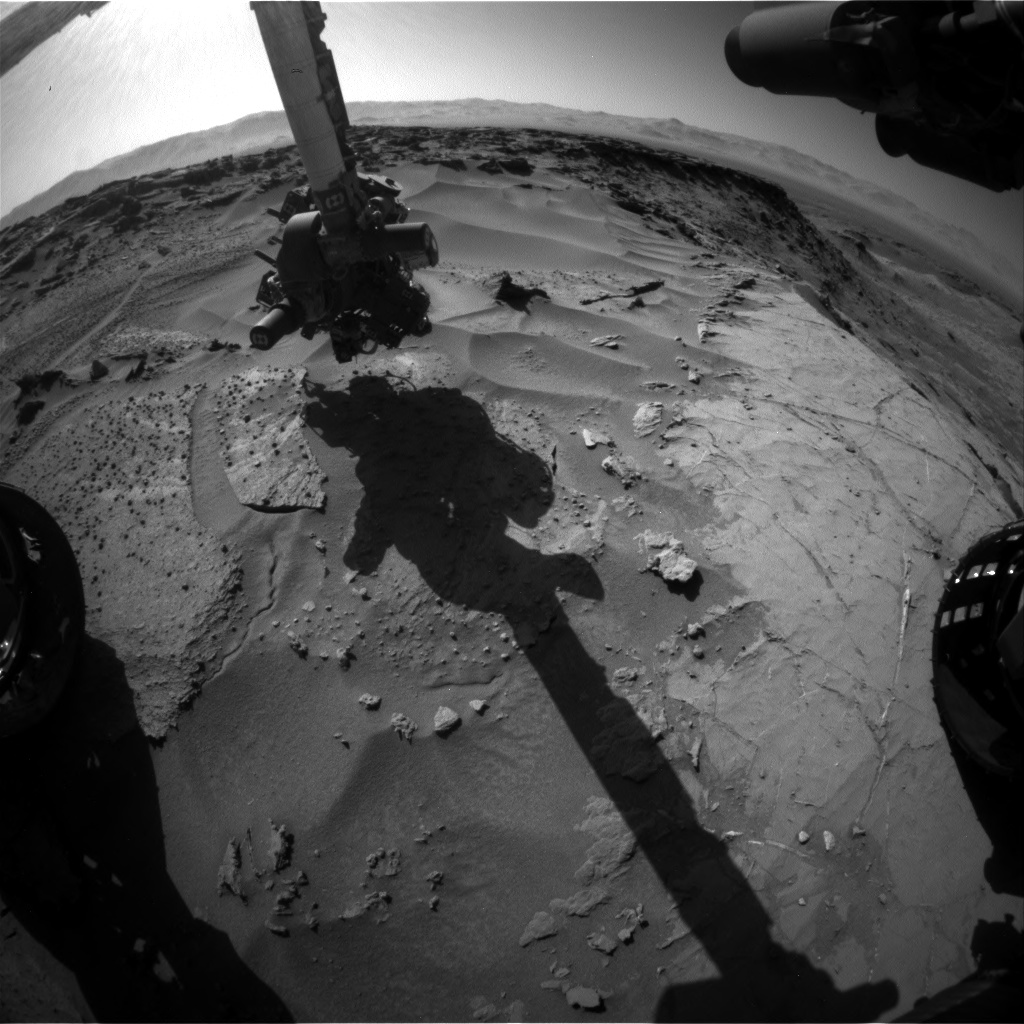 Nasa's Mars rover Curiosity acquired this image using its Front Hazard Avoidance Camera (Front Hazcam) on Sol 1278, at drive 1182, site number 53