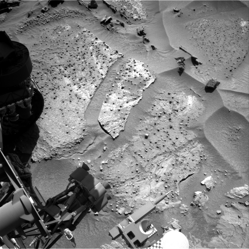NASA's Mars rover Curiosity acquired this image using its Right Navigation Cameras (Navcams) on Sol 1278
