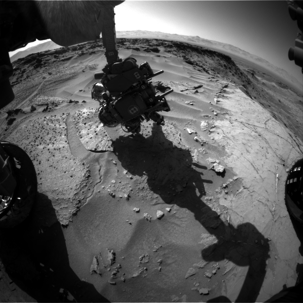 Nasa's Mars rover Curiosity acquired this image using its Front Hazard Avoidance Camera (Front Hazcam) on Sol 1279, at drive 1182, site number 53