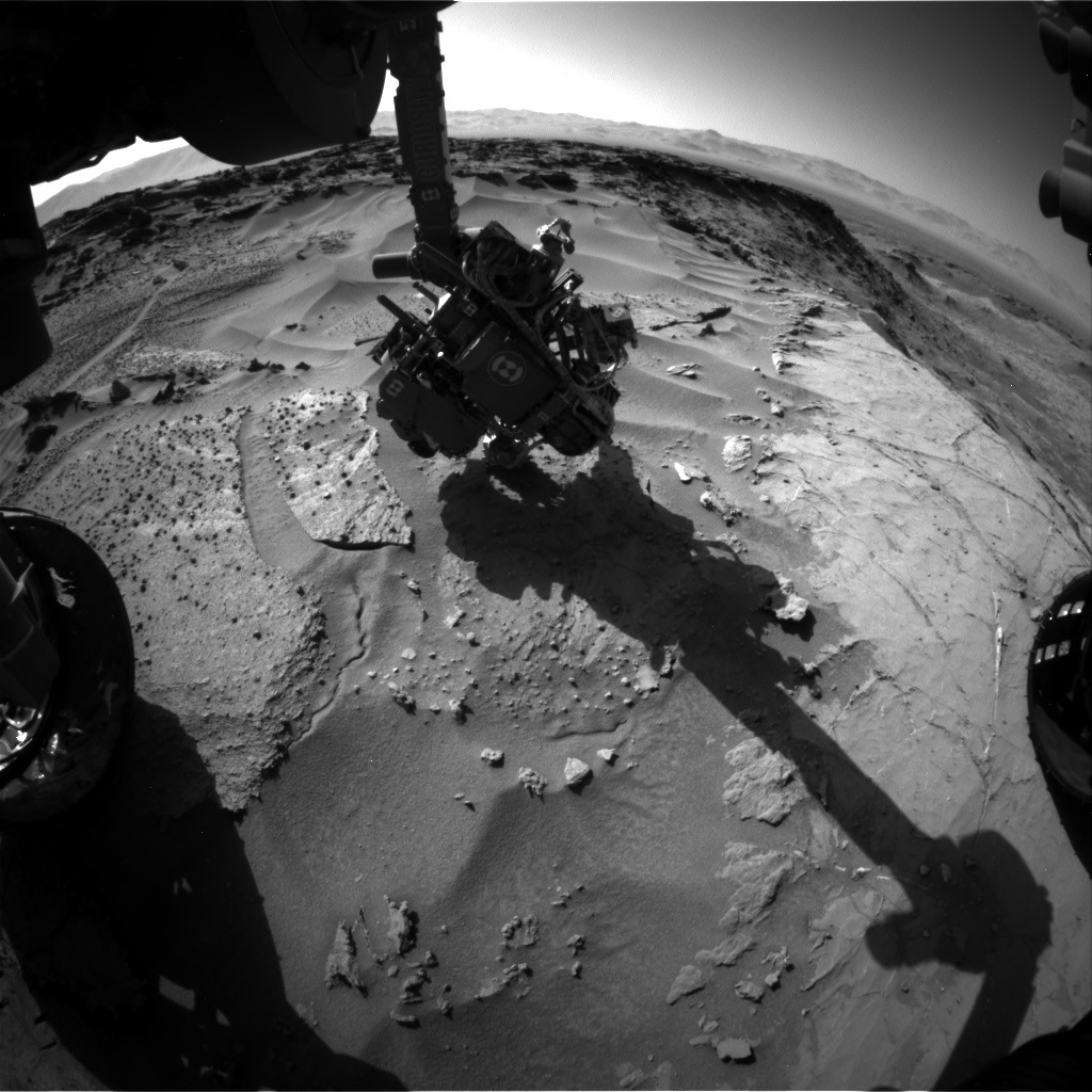 NASA's Mars rover Curiosity acquired this image using its Front Hazard Avoidance Cameras (Front Hazcams) on Sol 1279