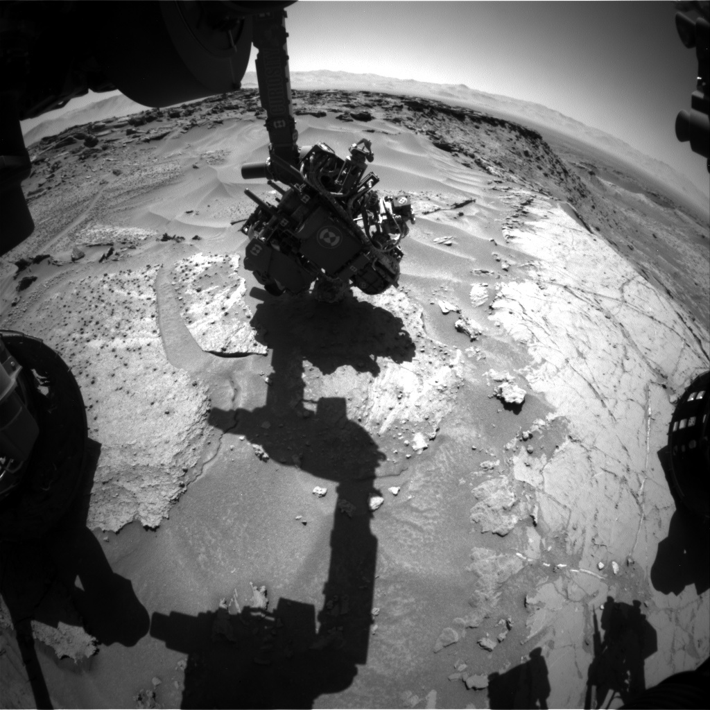 Nasa's Mars rover Curiosity acquired this image using its Front Hazard Avoidance Camera (Front Hazcam) on Sol 1280, at drive 1182, site number 53