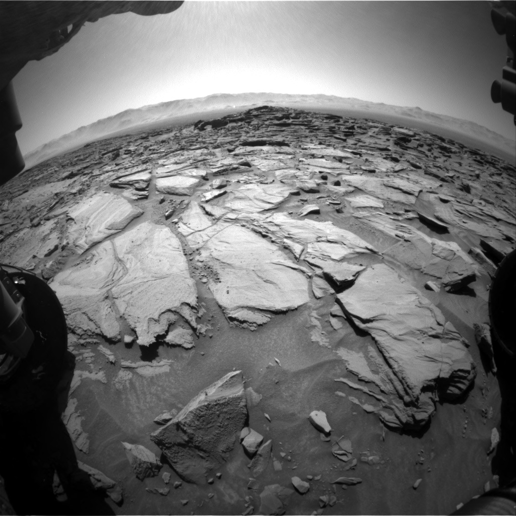 Nasa's Mars rover Curiosity acquired this image using its Front Hazard Avoidance Camera (Front Hazcam) on Sol 1281, at drive 1284, site number 53
