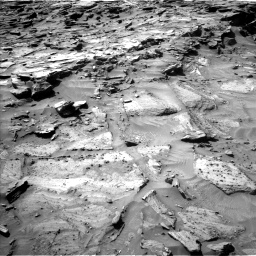 Nasa's Mars rover Curiosity acquired this image using its Left Navigation Camera on Sol 1281, at drive 1248, site number 53