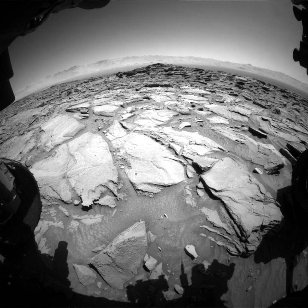 Nasa's Mars rover Curiosity acquired this image using its Front Hazard Avoidance Camera (Front Hazcam) on Sol 1282, at drive 1284, site number 53