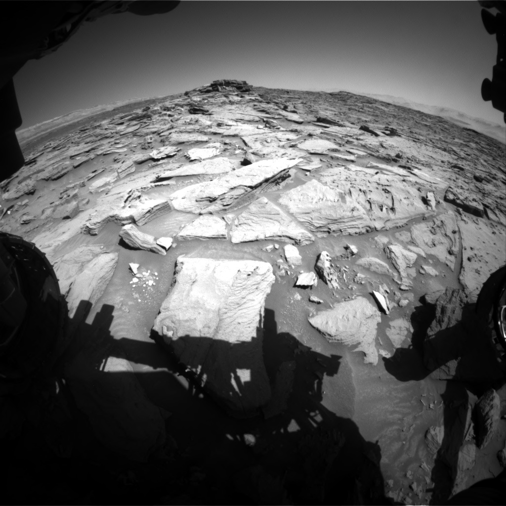 Nasa's Mars rover Curiosity acquired this image using its Front Hazard Avoidance Camera (Front Hazcam) on Sol 1282, at drive 1470, site number 53