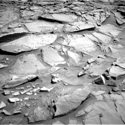 Nasa's Mars rover Curiosity acquired this image using its Left Navigation Camera on Sol 1282, at drive 1374, site number 53