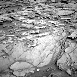 Nasa's Mars rover Curiosity acquired this image using its Left Navigation Camera on Sol 1282, at drive 1416, site number 53