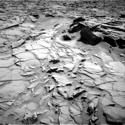 Nasa's Mars rover Curiosity acquired this image using its Right Navigation Camera on Sol 1282, at drive 1350, site number 53