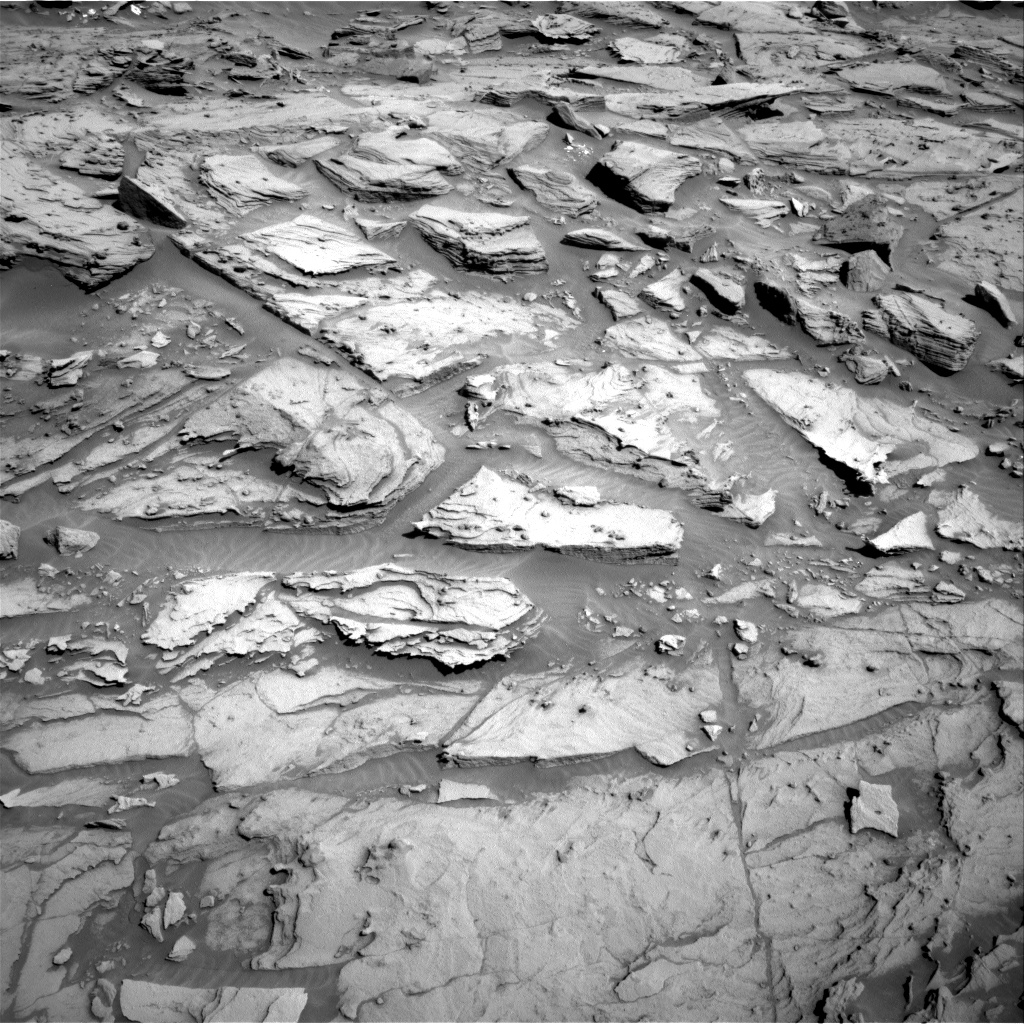 Nasa's Mars rover Curiosity acquired this image using its Right Navigation Camera on Sol 1282, at drive 1434, site number 53