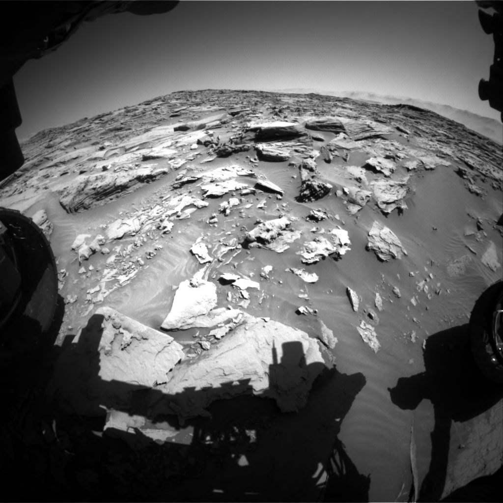 Nasa's Mars rover Curiosity acquired this image using its Front Hazard Avoidance Camera (Front Hazcam) on Sol 1283, at drive 1756, site number 53
