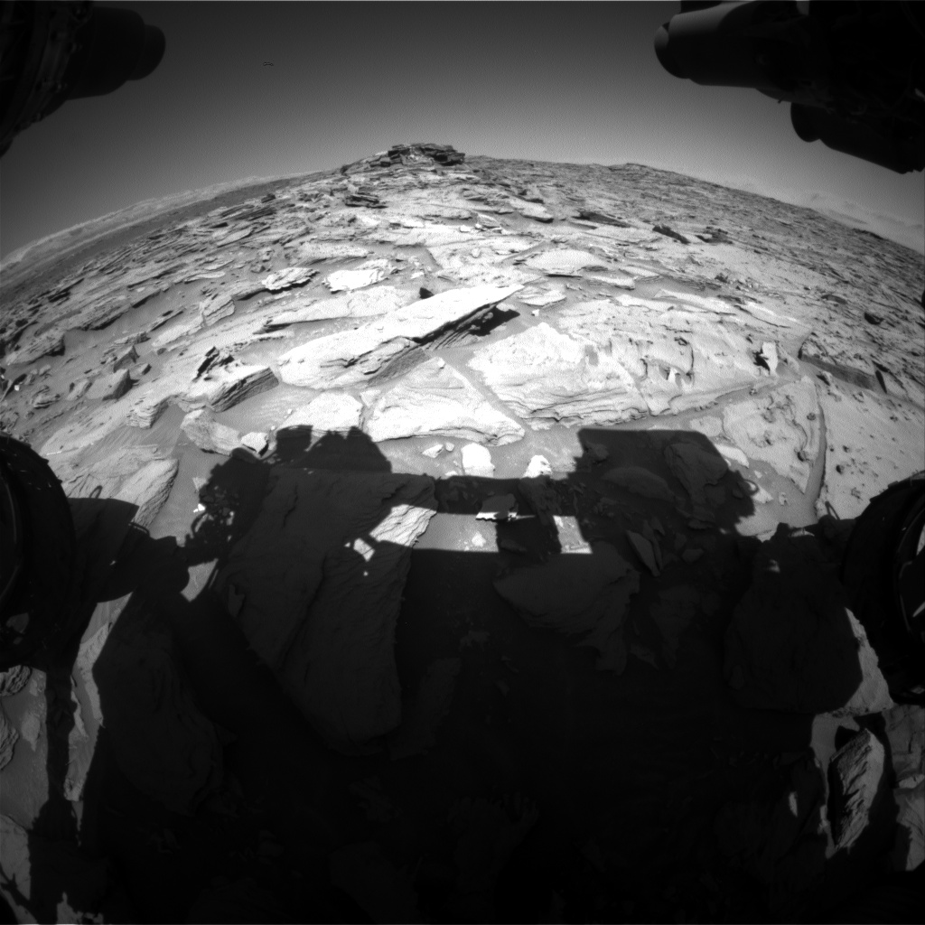 Nasa's Mars rover Curiosity acquired this image using its Front Hazard Avoidance Camera (Front Hazcam) on Sol 1283, at drive 1470, site number 53