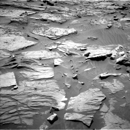 Nasa's Mars rover Curiosity acquired this image using its Left Navigation Camera on Sol 1283, at drive 1566, site number 53