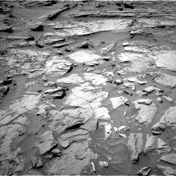 Nasa's Mars rover Curiosity acquired this image using its Left Navigation Camera on Sol 1283, at drive 1608, site number 53