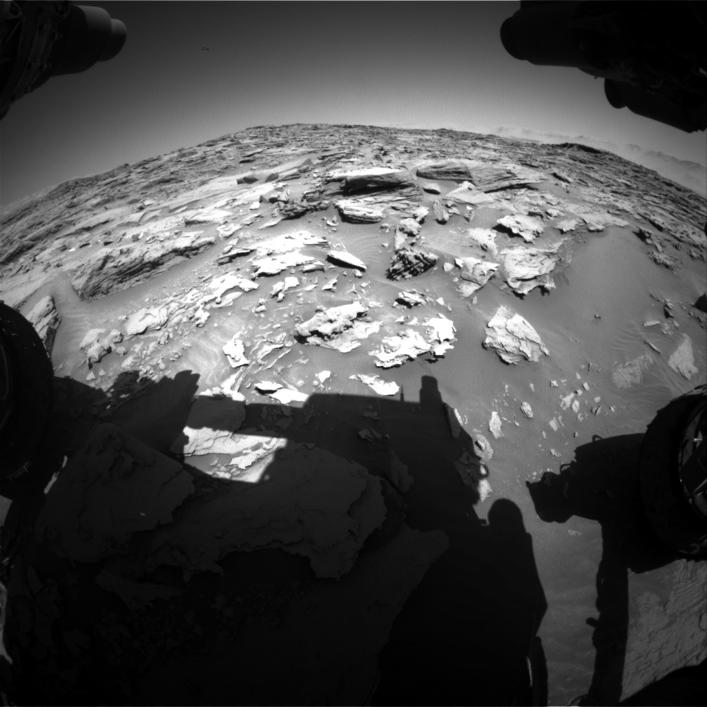 Nasa's Mars rover Curiosity acquired this image using its Front Hazard Avoidance Camera (Front Hazcam) on Sol 1284, at drive 1756, site number 53