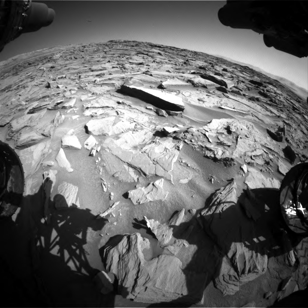 Nasa's Mars rover Curiosity acquired this image using its Front Hazard Avoidance Camera (Front Hazcam) on Sol 1284, at drive 1990, site number 53