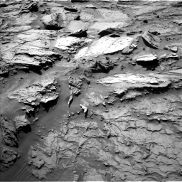 Nasa's Mars rover Curiosity acquired this image using its Left Navigation Camera on Sol 1284, at drive 1756, site number 53