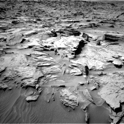 Nasa's Mars rover Curiosity acquired this image using its Left Navigation Camera on Sol 1284, at drive 1846, site number 53