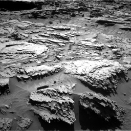 Nasa's Mars rover Curiosity acquired this image using its Left Navigation Camera on Sol 1284, at drive 1948, site number 53