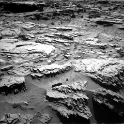 Nasa's Mars rover Curiosity acquired this image using its Left Navigation Camera on Sol 1284, at drive 1954, site number 53