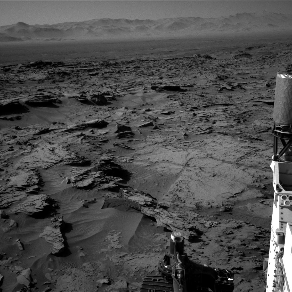Nasa's Mars rover Curiosity acquired this image using its Left Navigation Camera on Sol 1284, at drive 1990, site number 53