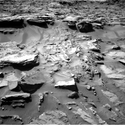 Nasa's Mars rover Curiosity acquired this image using its Right Navigation Camera on Sol 1284, at drive 1924, site number 53