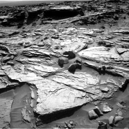 Nasa's Mars rover Curiosity acquired this image using its Right Navigation Camera on Sol 1284, at drive 1978, site number 53