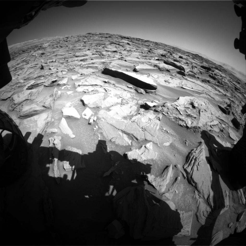 Nasa's Mars rover Curiosity acquired this image using its Front Hazard Avoidance Camera (Front Hazcam) on Sol 1285, at drive 1994, site number 53