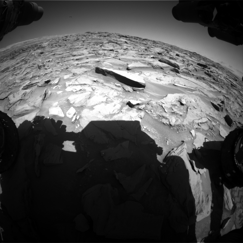 Nasa's Mars rover Curiosity acquired this image using its Front Hazard Avoidance Camera (Front Hazcam) on Sol 1285, at drive 1990, site number 53