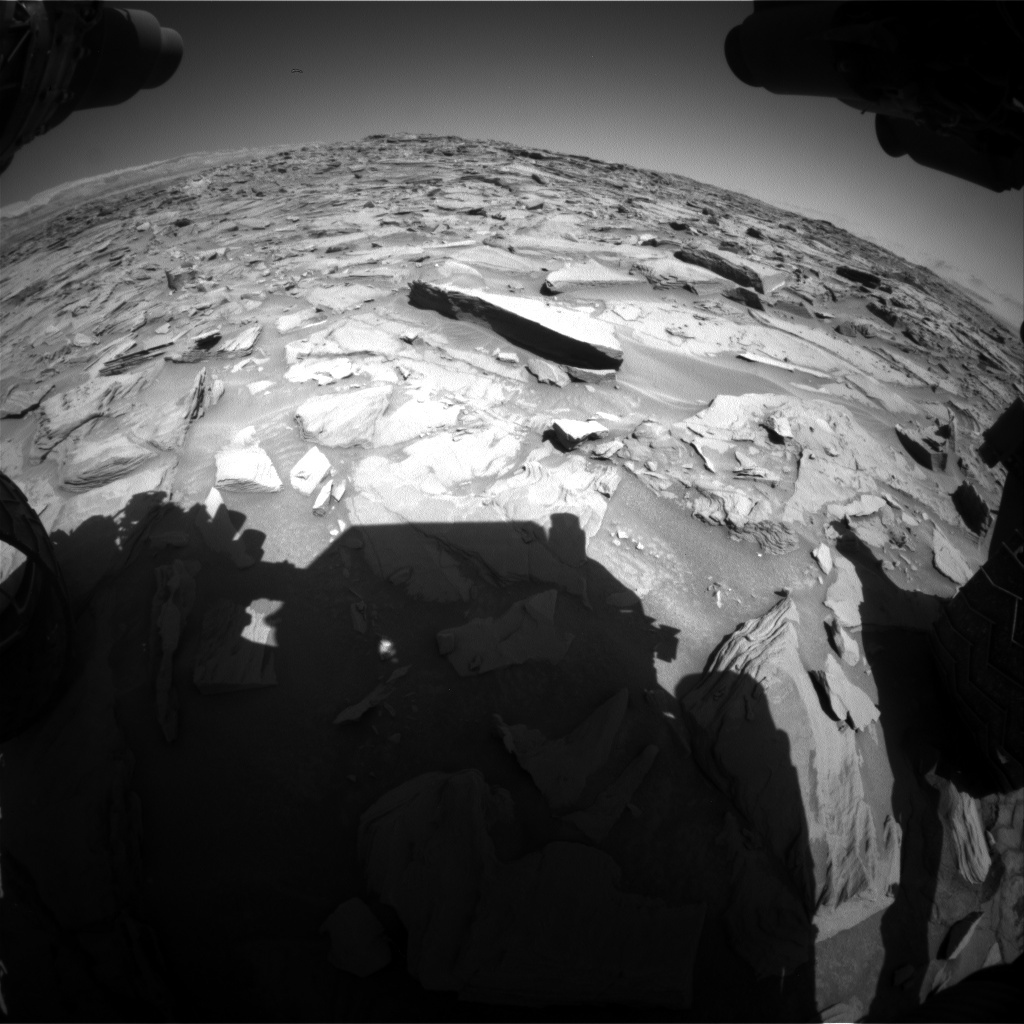 NASA's Mars rover Curiosity acquired this image using its Front Hazard Avoidance Cameras (Front Hazcams) on Sol 1286