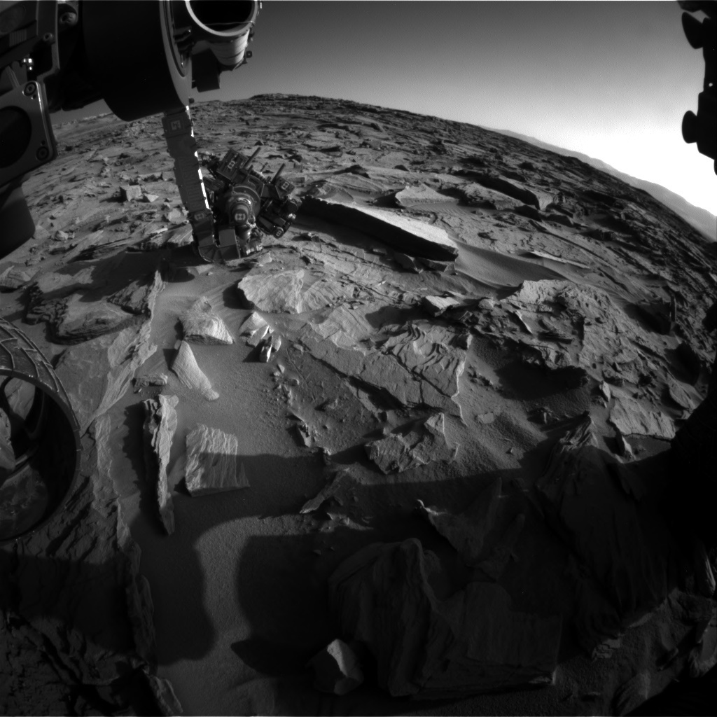 NASA's Mars rover Curiosity acquired this image using its Front Hazard Avoidance Cameras (Front Hazcams) on Sol 1287