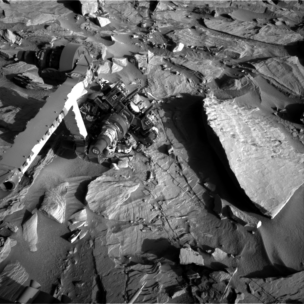 Nasa's Mars rover Curiosity acquired this image using its Right Navigation Camera on Sol 1287, at drive 1994, site number 53