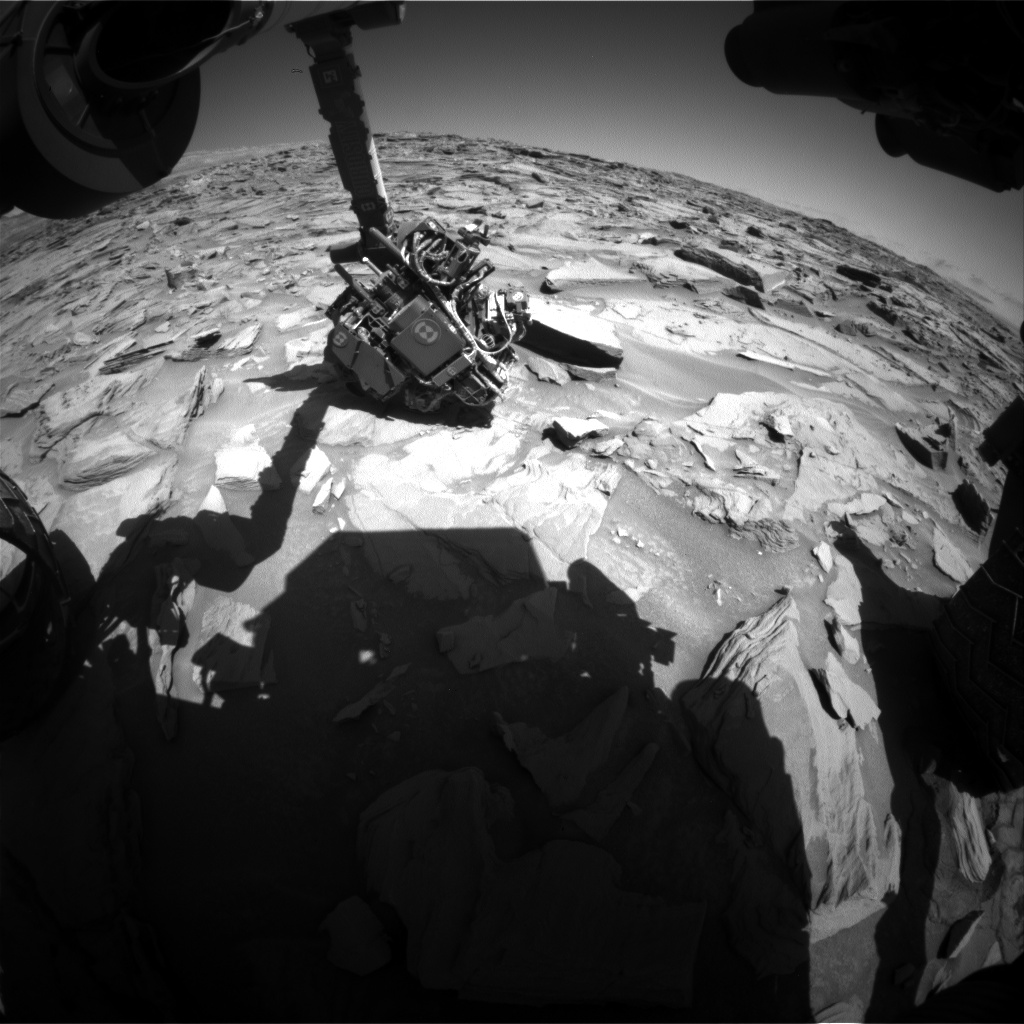 Nasa's Mars rover Curiosity acquired this image using its Front Hazard Avoidance Camera (Front Hazcam) on Sol 1288, at drive 1994, site number 53