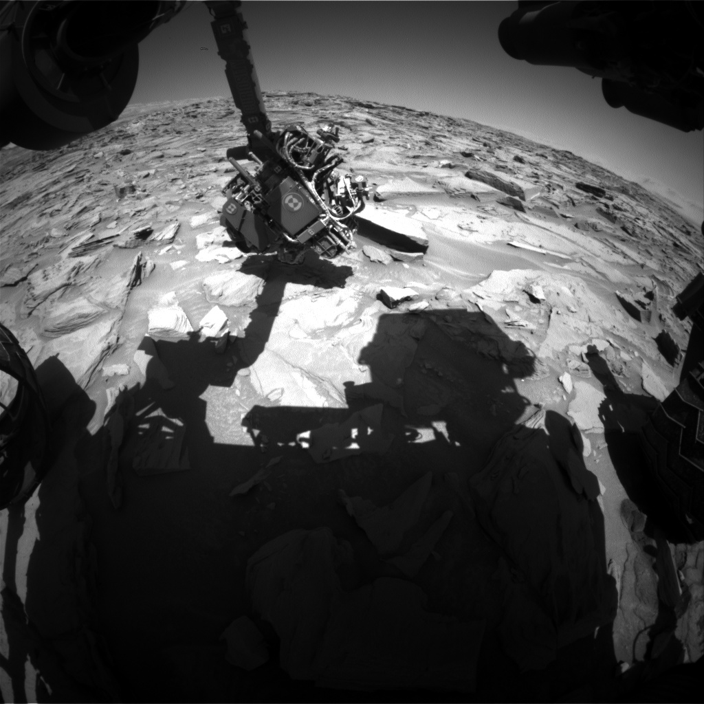 Nasa's Mars rover Curiosity acquired this image using its Front Hazard Avoidance Camera (Front Hazcam) on Sol 1289, at drive 1994, site number 53