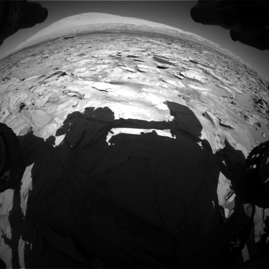 Nasa's Mars rover Curiosity acquired this image using its Front Hazard Avoidance Camera (Front Hazcam) on Sol 1289, at drive 2138, site number 53