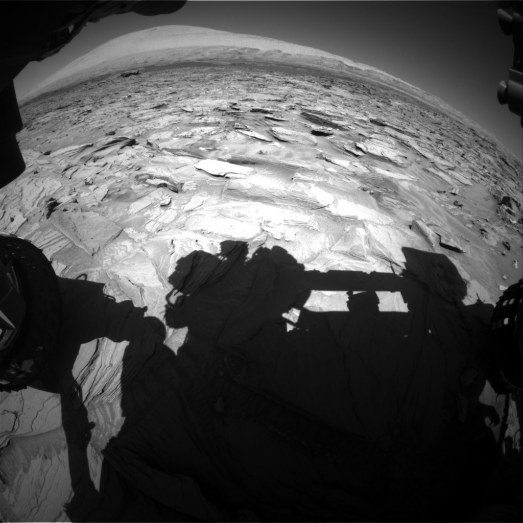Nasa's Mars rover Curiosity acquired this image using its Front Hazard Avoidance Camera (Front Hazcam) on Sol 1290, at drive 2138, site number 53