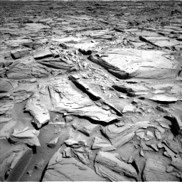 Nasa's Mars rover Curiosity acquired this image using its Left Navigation Camera on Sol 1290, at drive 2156, site number 53