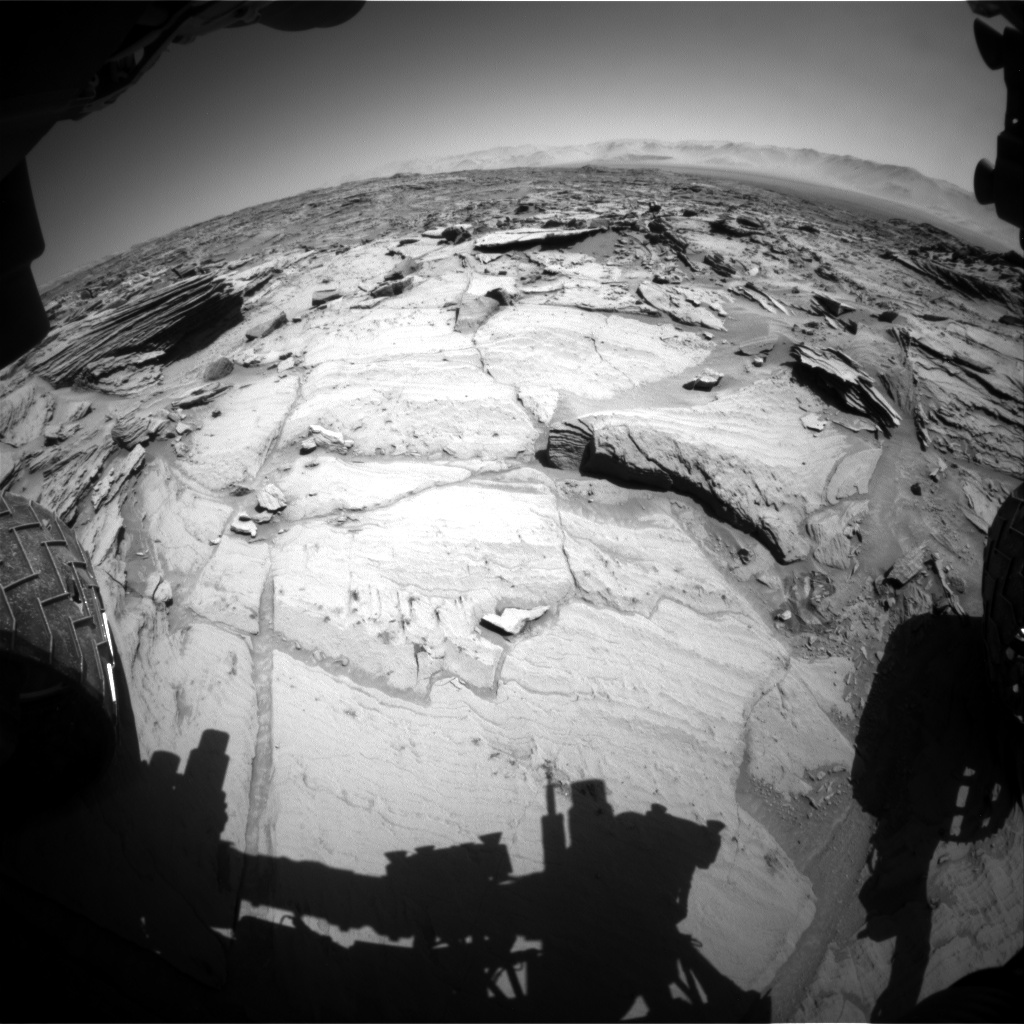 Nasa's Mars rover Curiosity acquired this image using its Front Hazard Avoidance Camera (Front Hazcam) on Sol 1292, at drive 2394, site number 53