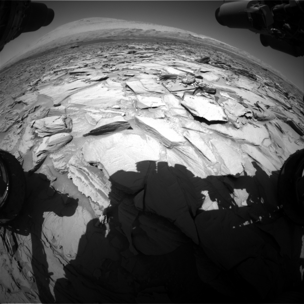 Nasa's Mars rover Curiosity acquired this image using its Front Hazard Avoidance Camera (Front Hazcam) on Sol 1292, at drive 2298, site number 53