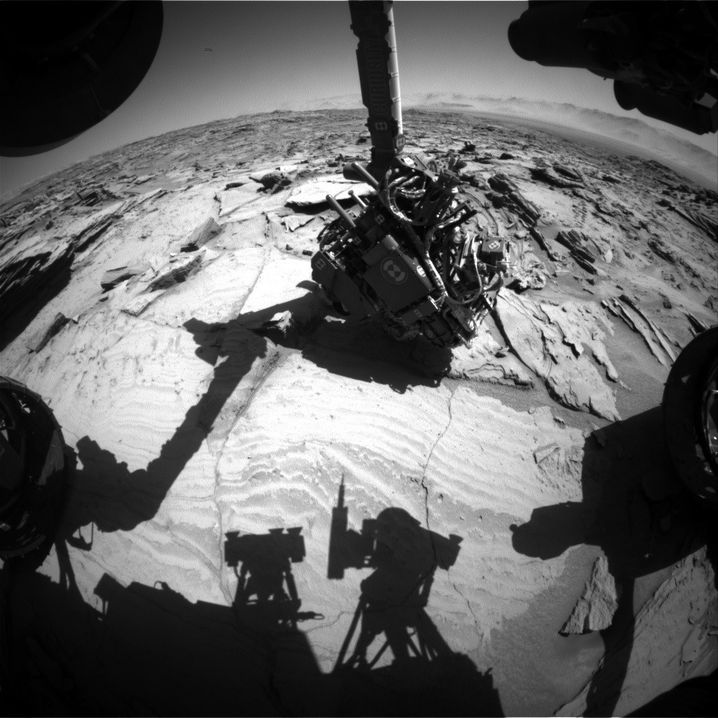 Nasa's Mars rover Curiosity acquired this image using its Front Hazard Avoidance Camera (Front Hazcam) on Sol 1294, at drive 2406, site number 53