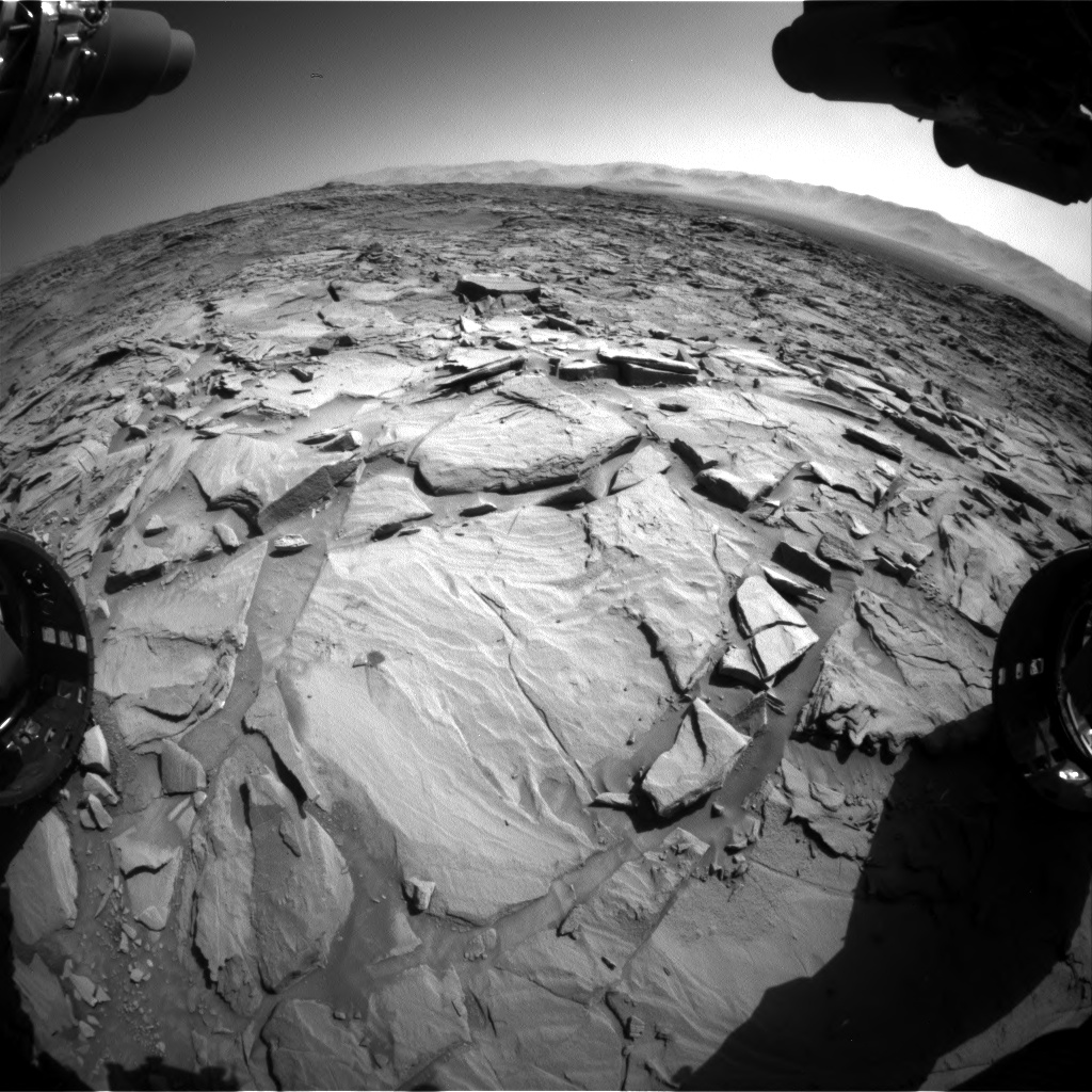 Nasa's Mars rover Curiosity acquired this image using its Front Hazard Avoidance Camera (Front Hazcam) on Sol 1294, at drive 2578, site number 53