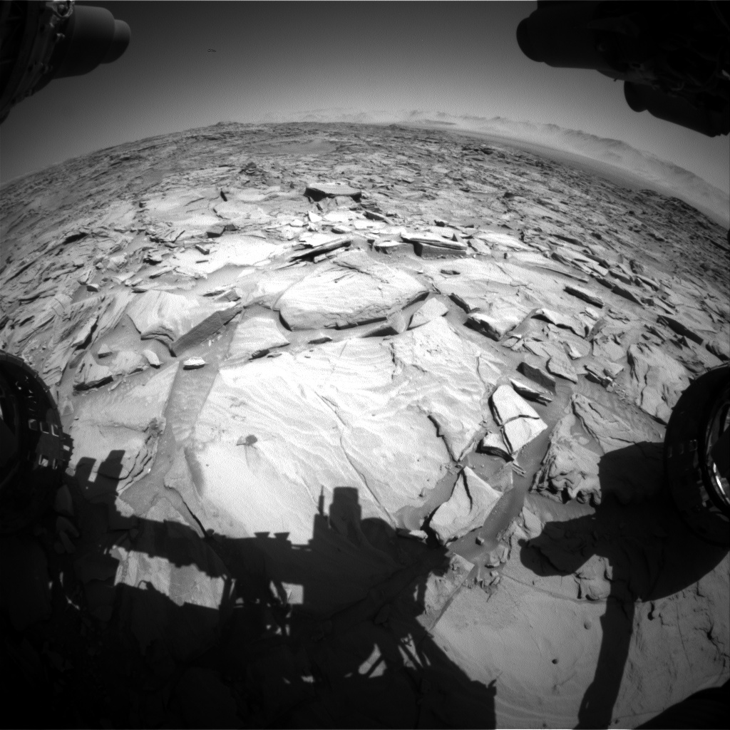 Nasa's Mars rover Curiosity acquired this image using its Front Hazard Avoidance Camera (Front Hazcam) on Sol 1295, at drive 2578, site number 53