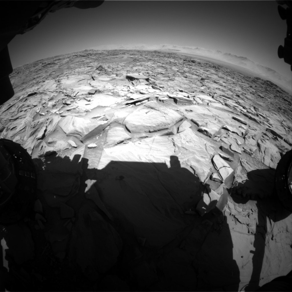 NASA's Mars rover Curiosity acquired this image using its Front Hazard Avoidance Cameras (Front Hazcams) on Sol 1296