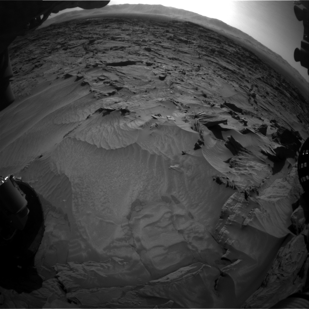 Nasa's Mars rover Curiosity acquired this image using its Front Hazard Avoidance Camera (Front Hazcam) on Sol 1296, at drive 2644, site number 53