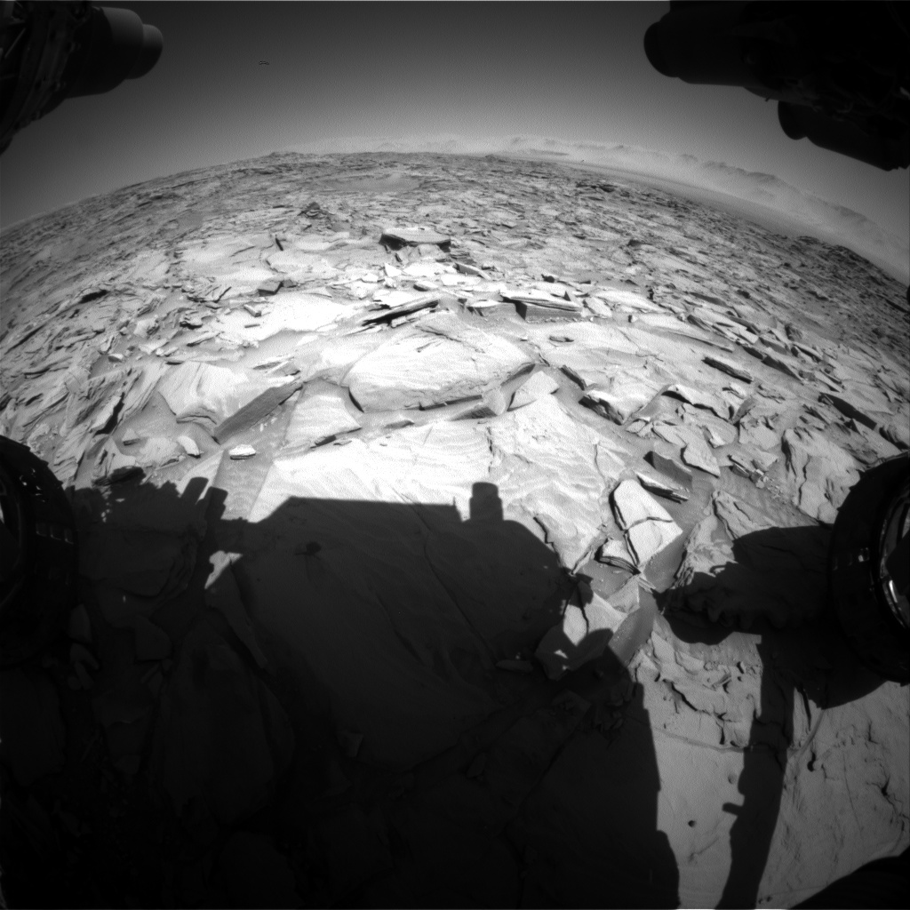 Nasa's Mars rover Curiosity acquired this image using its Front Hazard Avoidance Camera (Front Hazcam) on Sol 1296, at drive 2578, site number 53