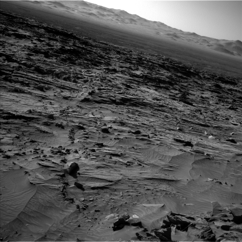 NASA's Mars rover Curiosity acquired this image using its Left Navigation Camera (Navcams) on Sol 1296