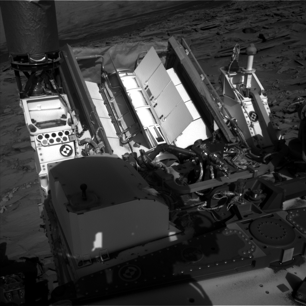 Nasa's Mars rover Curiosity acquired this image using its Left Navigation Camera on Sol 1296, at drive 2644, site number 53