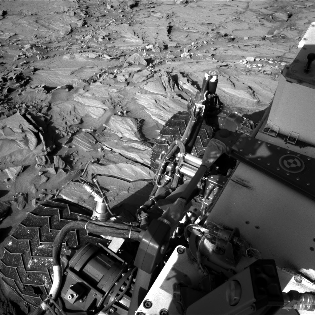 Nasa's Mars rover Curiosity acquired this image using its Right Navigation Camera on Sol 1296, at drive 2644, site number 53