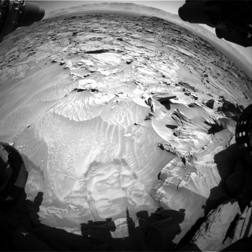 Nasa's Mars rover Curiosity acquired this image using its Front Hazard Avoidance Camera (Front Hazcam) on Sol 1297, at drive 2644, site number 53