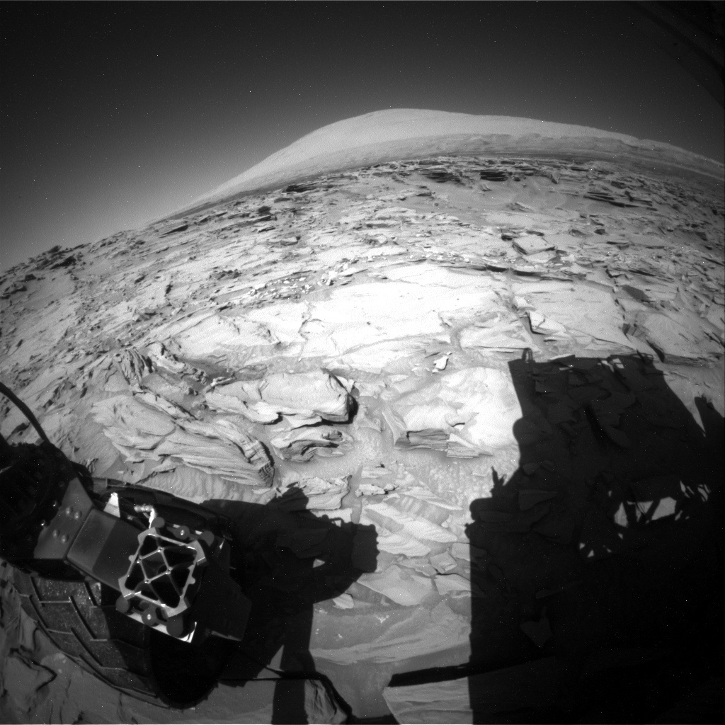 NASA's Mars rover Curiosity acquired this image using its Rear Hazard Avoidance Cameras (Rear Hazcams) on Sol 1297